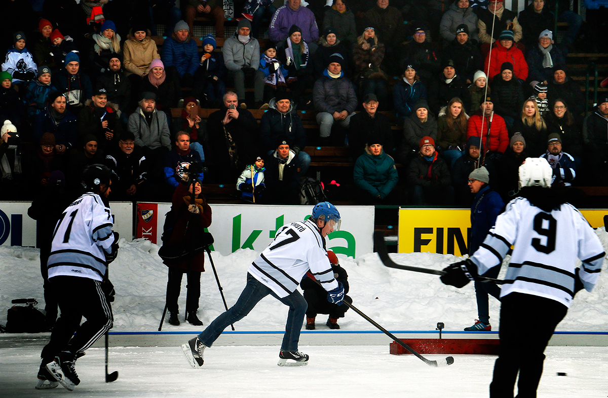 Time for another goal! Picture: Tony Öhberg for Finland Today