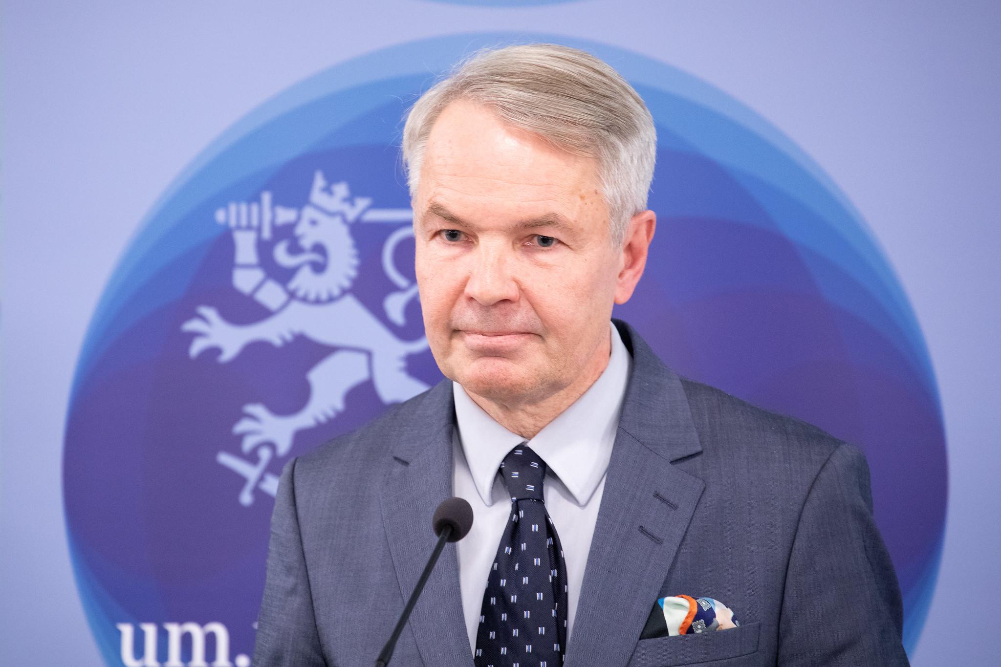 Foreign Minister Pekka Haavisto (the Green League). Photograph: Kosti Keistinen/The Finnish government