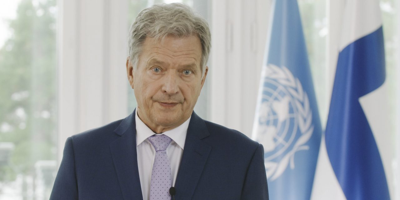 President Niinistö Addresses Strategy to Overcome the Pandemic, Global Warming and Gender Equality