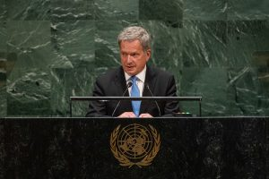 President Sauli Niinistö at the UN General Assembly in New York: 'We Are no Longer Able to Avoid the...