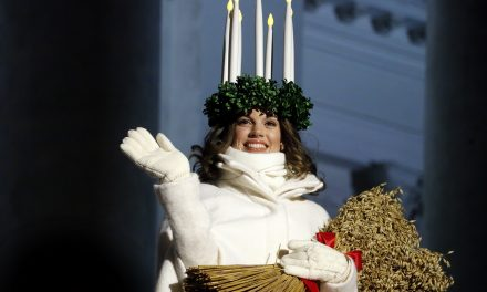 PICTURES: National Lucia Sara Ray, 24, Brings Light to Snowless Helsinki