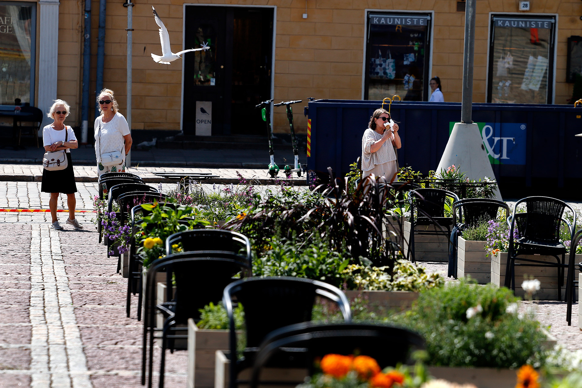 The seagulls are likely to love the open-air food court. Luckily, the area will be covered with a bird net. Picture: Tony Öhberg/Finland Today
