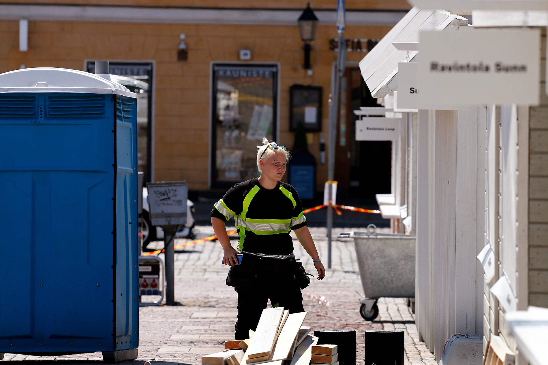There are also wooden cottages familiar to the visitors from the Christmas market. Picture: Tony Öhberg/Finland Today