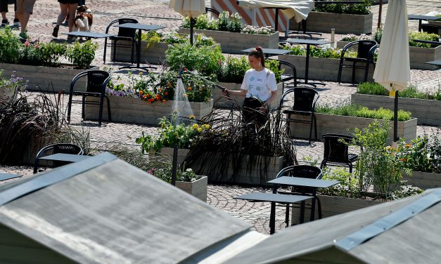 PICTURES: Senate Square Turns Into an Open-Air Food Court and Garden