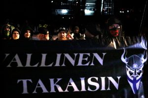 PICTURES: Hundreds Join the March Arranged by Nationalist Soldiers of Odin Group; Man From Sweden Ar...