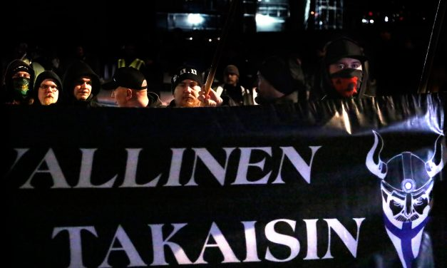 PICTURES: Hundreds Join the March Arranged by Nationalist Soldiers of Odin Group; Man From Sweden Arrested for Disturbing the Protest