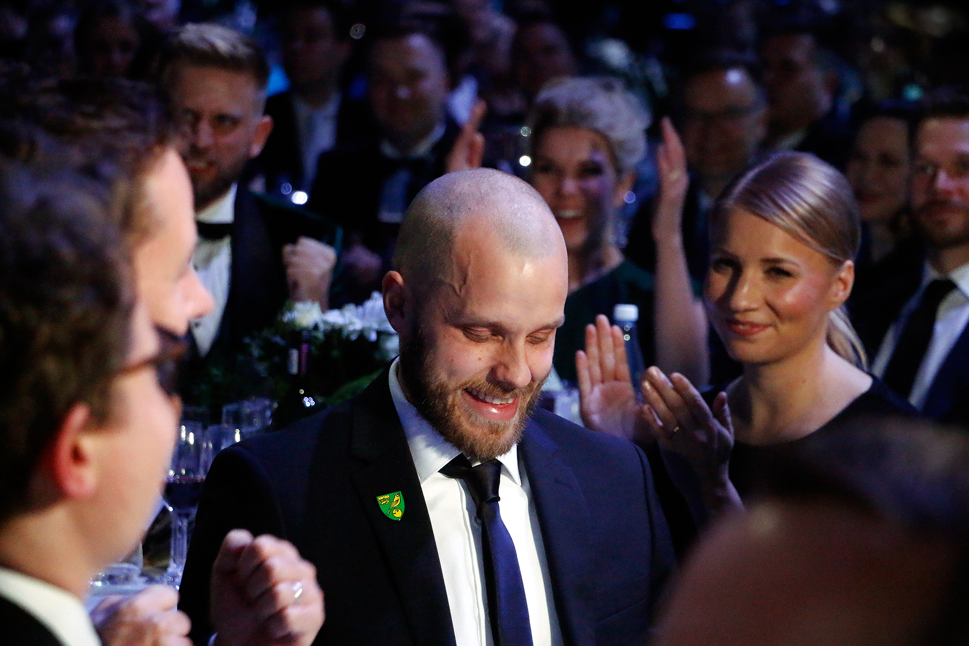 Football striker Teemu Pukki won the Athlete of the Year prize. Picture: Tony Öhberg for Finland Today