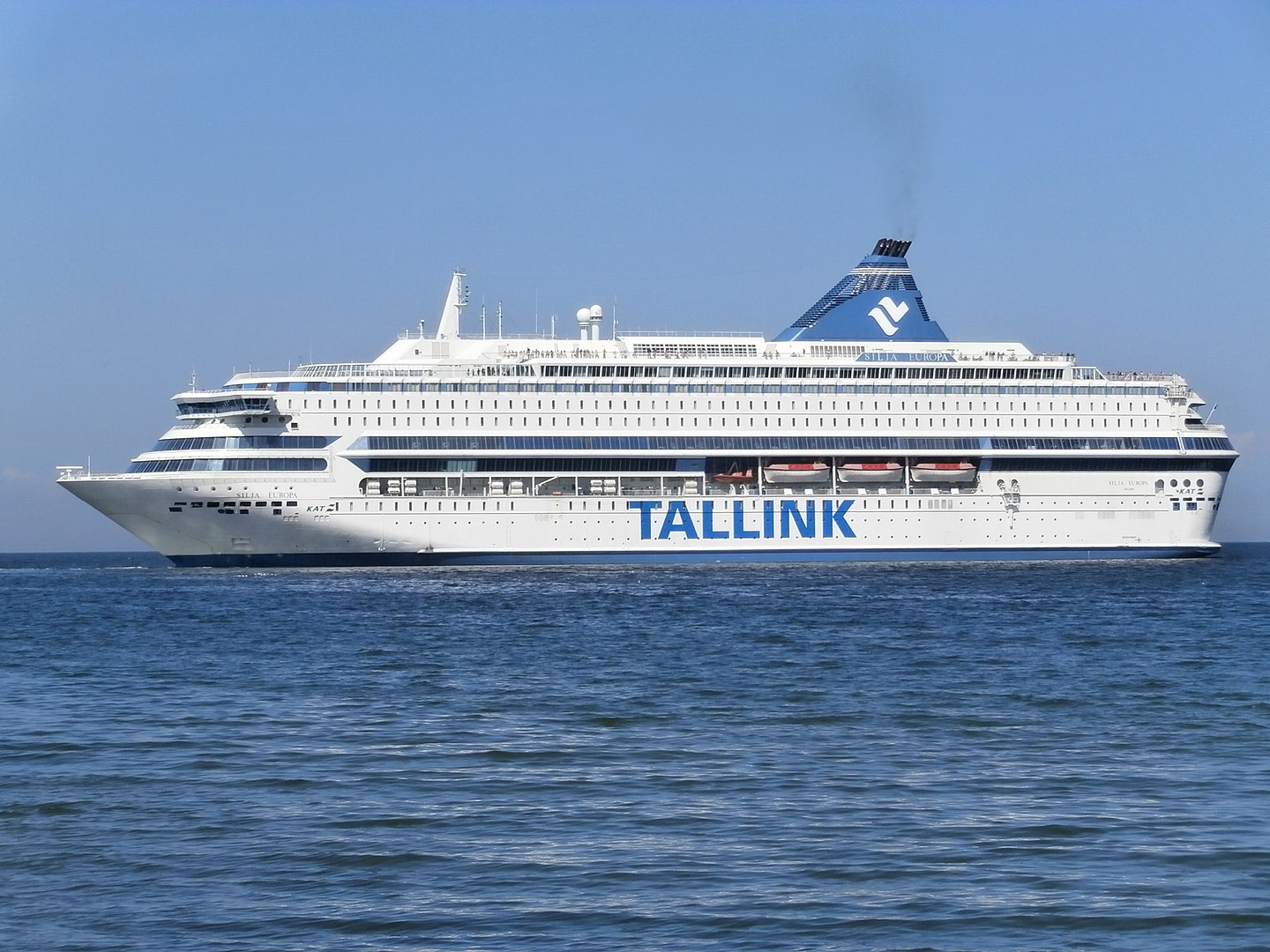 Tallink Silja Europa cruise ferry is able to accomodate 3,123 passengers. Photograph: Puclib domain