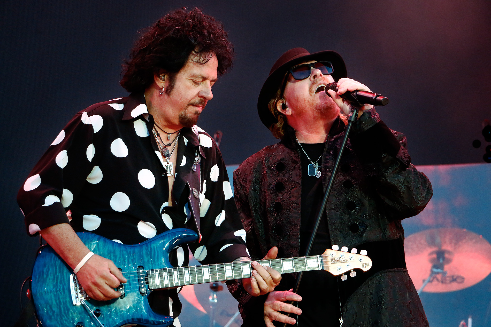 Guitarist Steve Lukather and vocalist Joseph Williams, friends since the '80s. Picture: Tony Öhberg for Finland Today