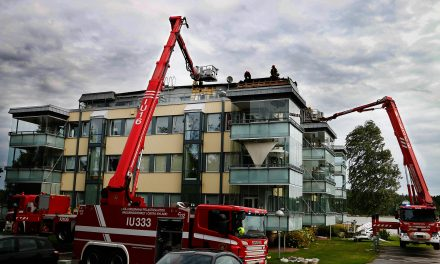 Roof of an Apartment Building Bursts into Flames in the Southern City of Loviisa