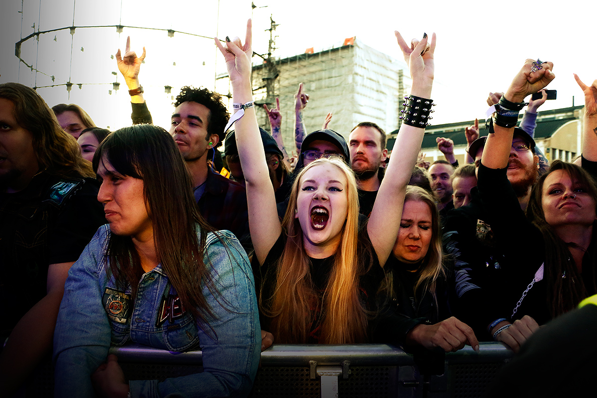 Slayer fans. Tuska 2019, June 29, Helsinki. Picture: Tony Öhberg for Finland Today