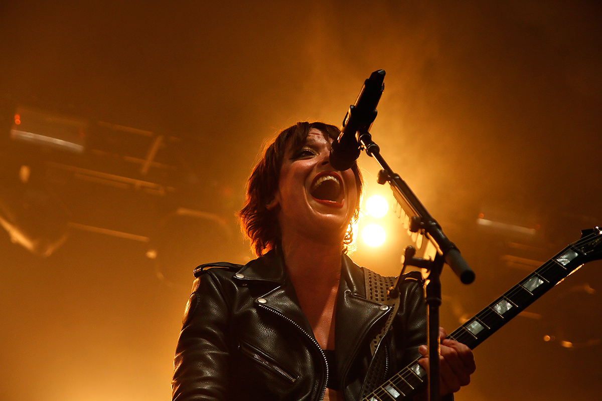 Lzzy Hale, vocalist, guitarist, Halestorm. Tuska 2019, June 30, Helsinki. Picture: Tony Öhberg for Finland Today
