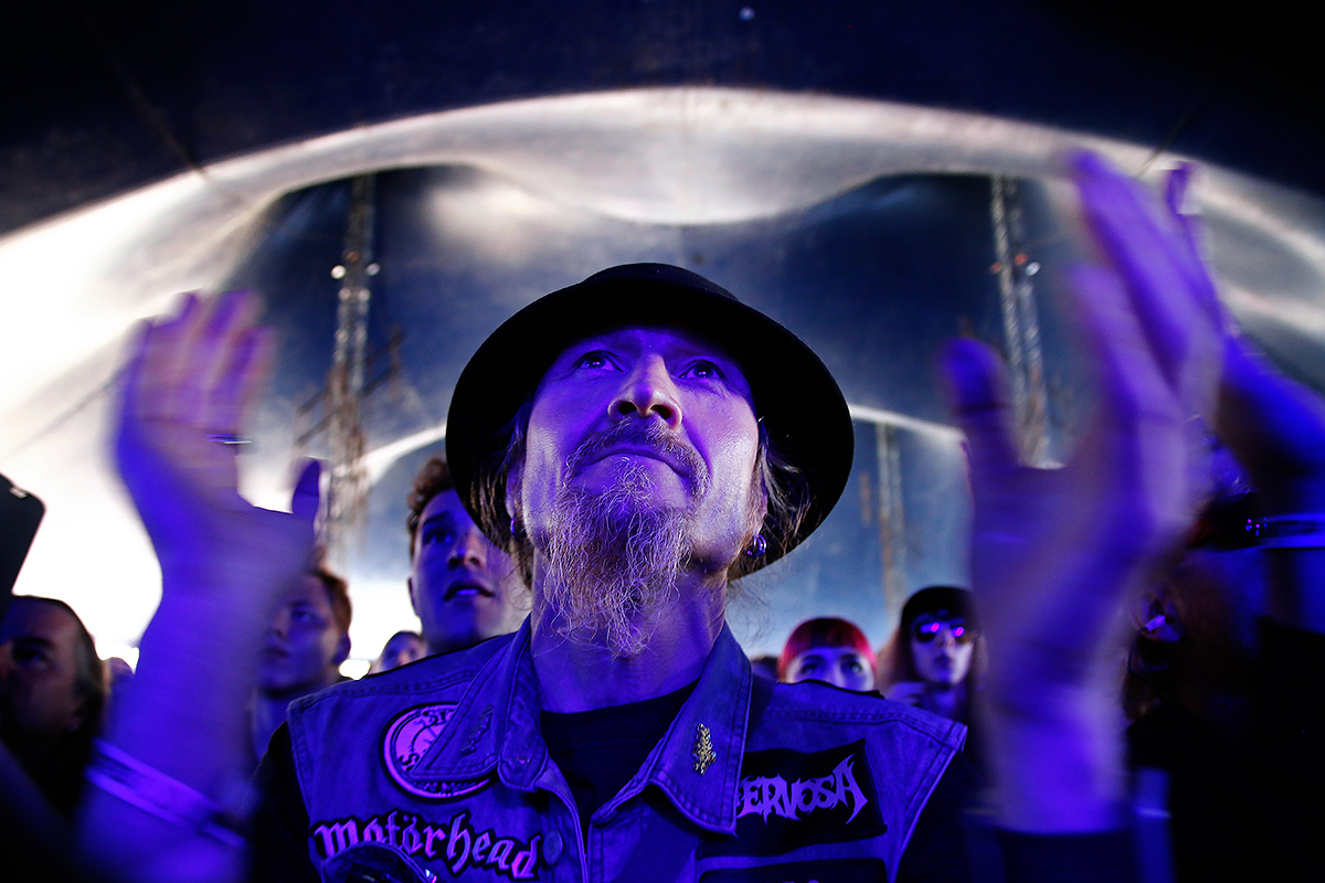 Man in the hat. Tuska 2019, Helsinki. Picture: Tony Öhberg for Finland Today
