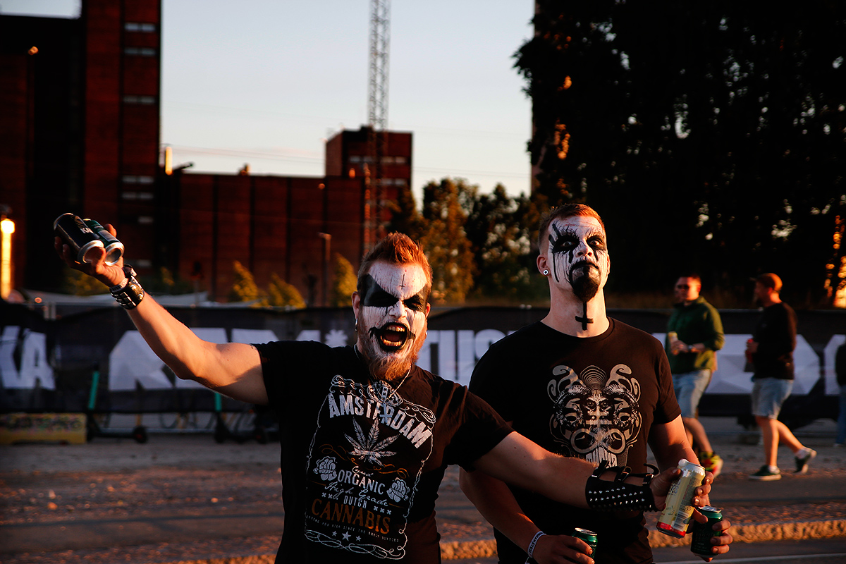 Men in masks. Tuska 2019, Helsinki. Picture: Tony Öhberg for Finland Today