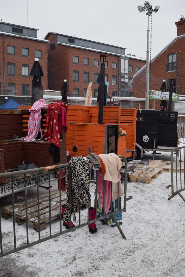 A place to hang your clothes. Picture: Kathleen Cusack for Finland Today
