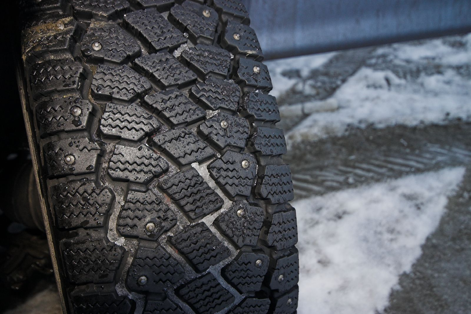 This image has an empty alt attribute; its file name is ft-winter-tyres.jpgIn Finland, studded tires are popular during the winter but its non-studded cousin is also gaining popularity especially in larger cities. Photograph: Jon Bowen/Flickr